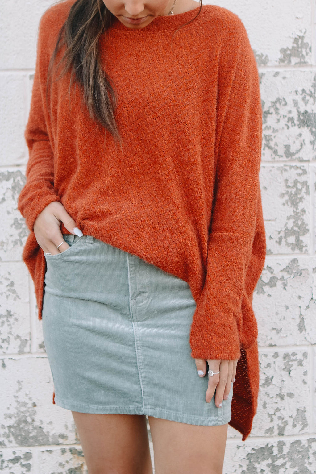 Basic Corduroy Mini Skirt