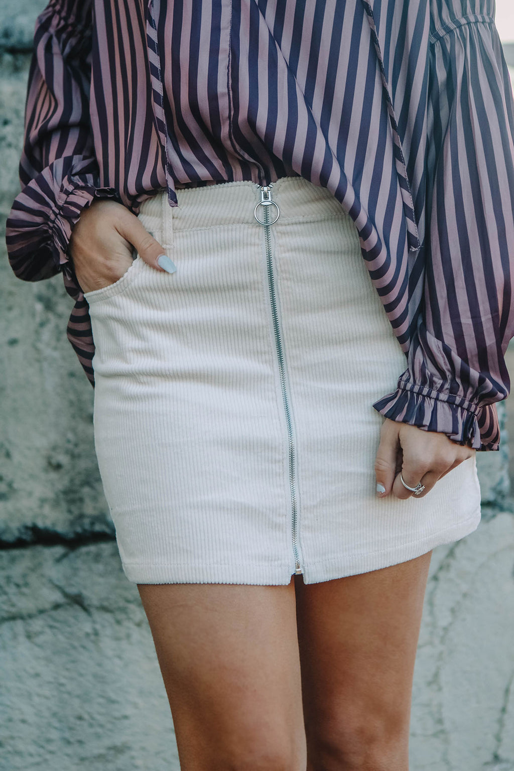 Zip It Corduroy Skirt