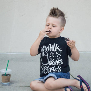 Milk, Cookies and Chaos Baby and Toddler Tee