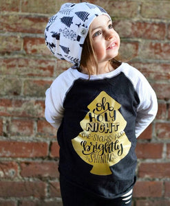 Oh Holy Night Kid's Raglan Tee