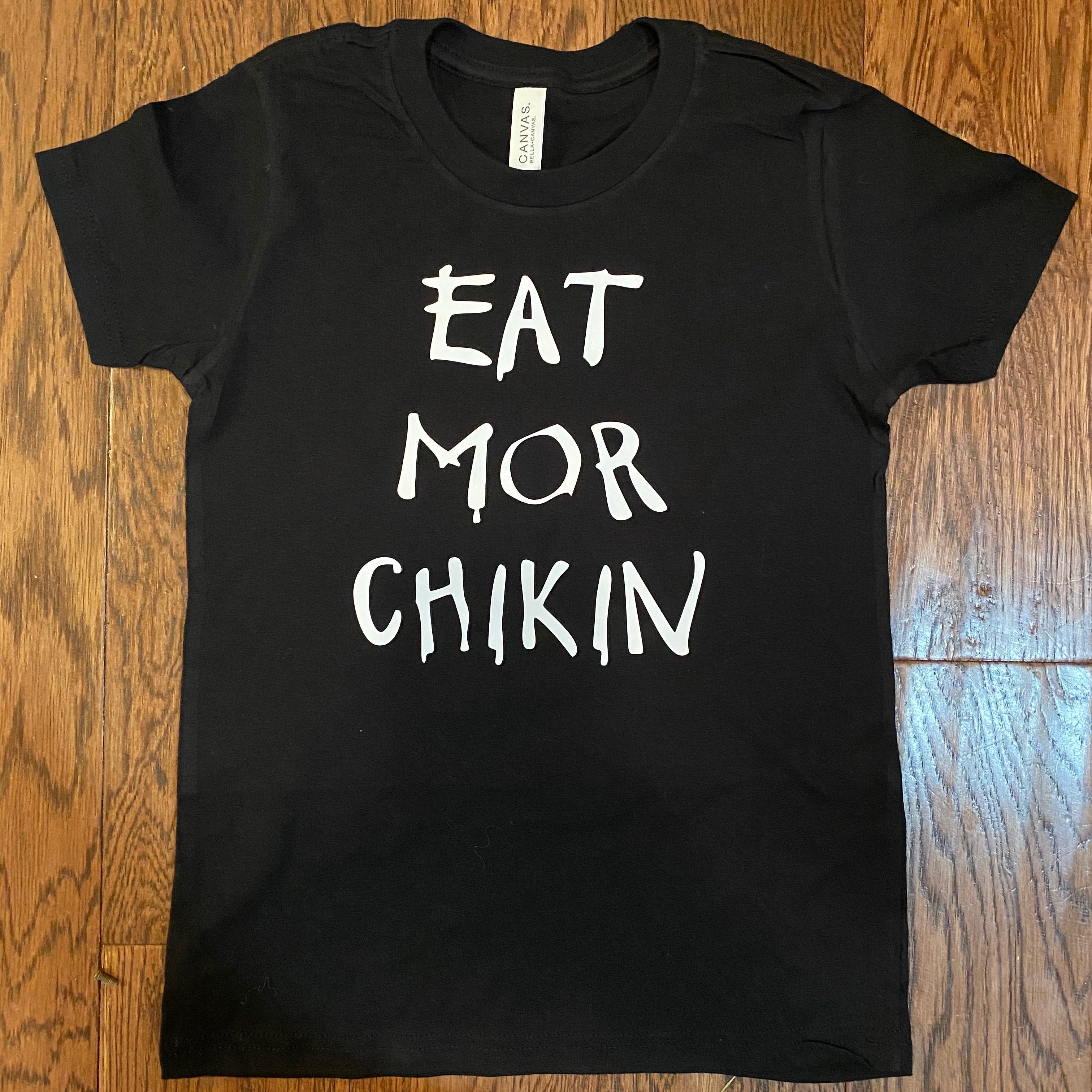 Chick-fil-A eat more chicken kids Red & Black Tee