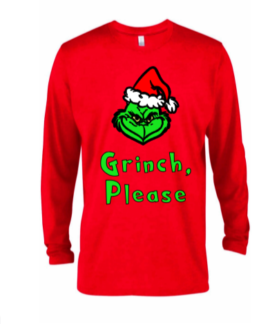 Grinch Please Adult Tee