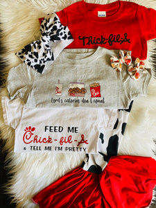 Chick-fil-A feed me & tell me I'm pretty Mama Tee