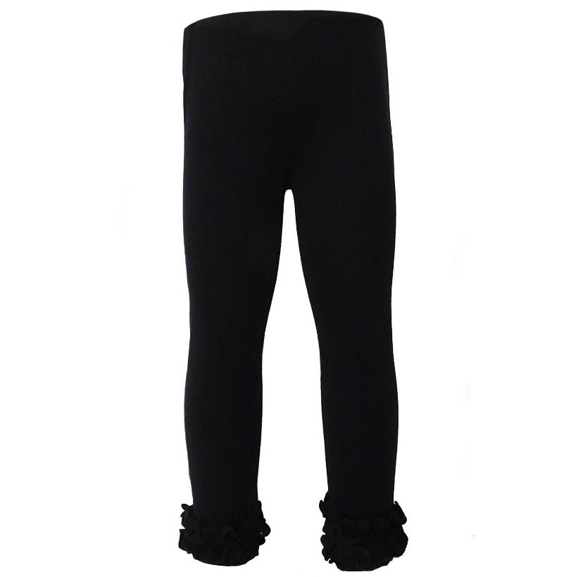 Ruffle Leggings Black