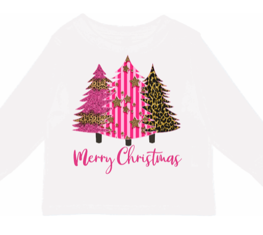 Pink Christmas Trees Baby & Kids tee