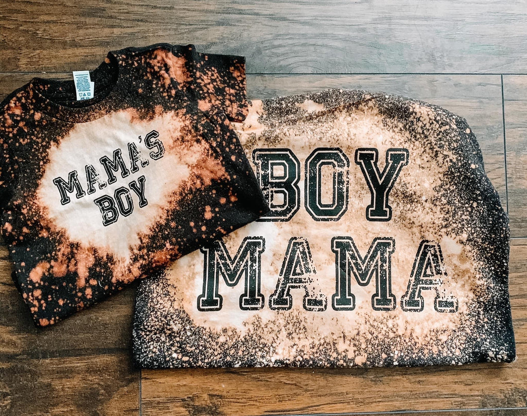 Mama & Me Bleached Tees