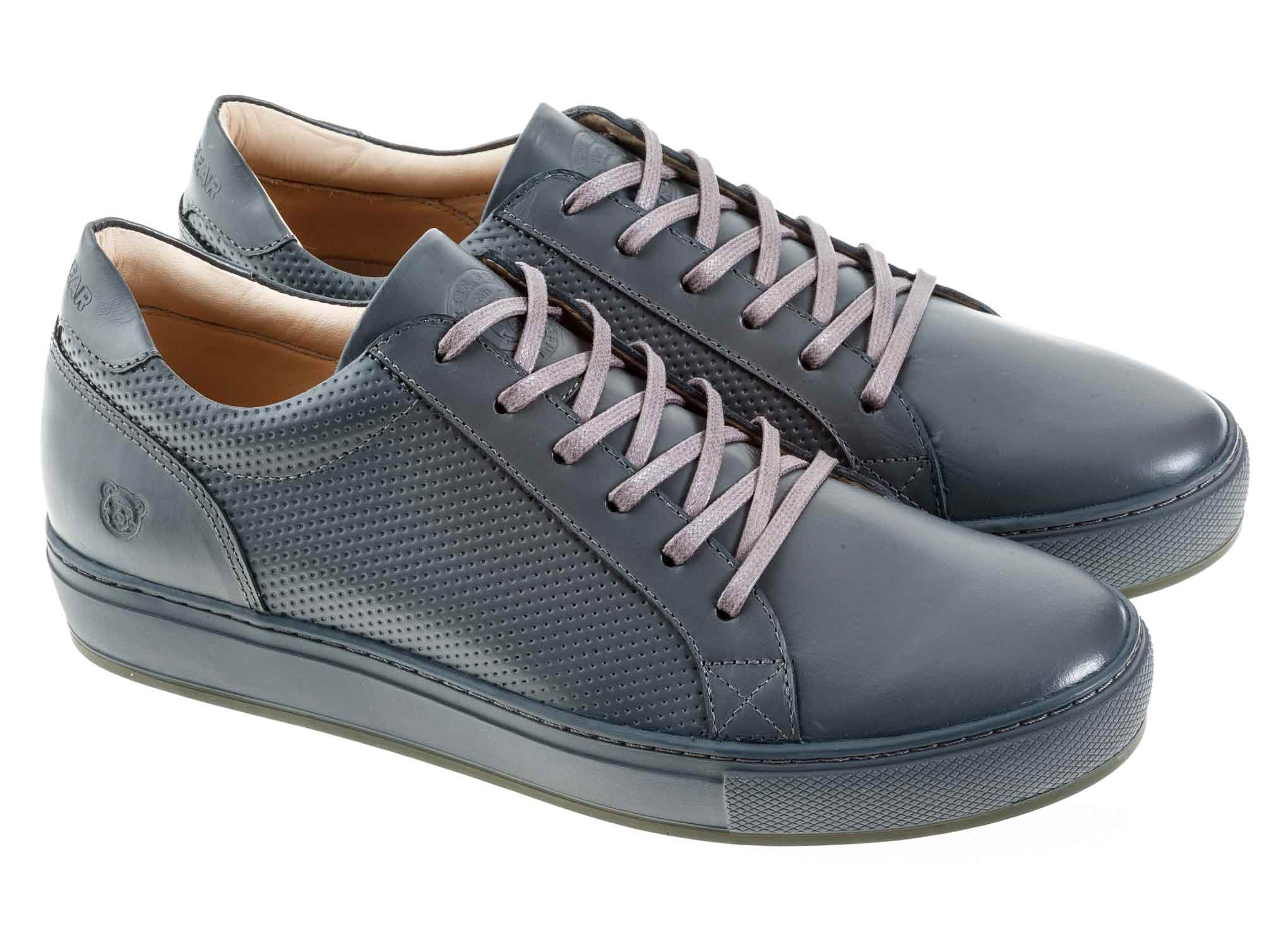 Shoes Classic for man Green Bear Gray