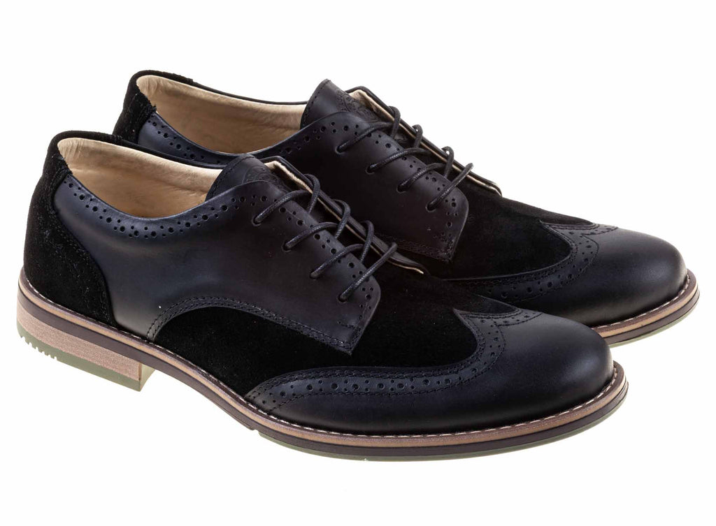 Zapato Oxford para hombre Green Bear Negro - Green Bear Shoes