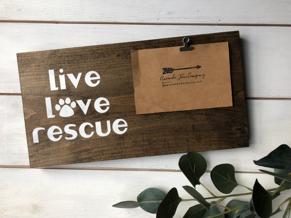 Live love rescue photo holder