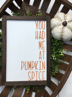 You had me at pumpkin spice
