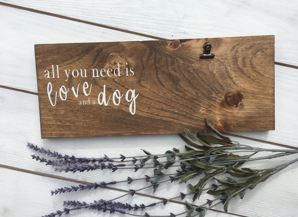 All you need is love and a dog photo holder