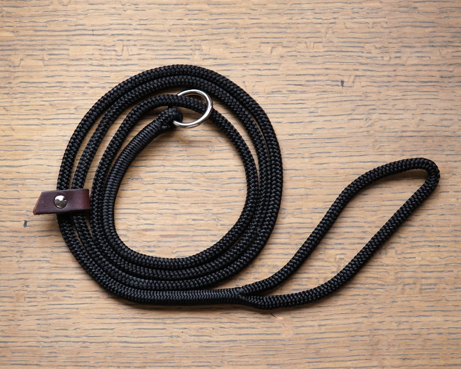 The Slip Mosey-Dog Leash-Obsidian Black-[curren_alte_text]-WanderDog Designs