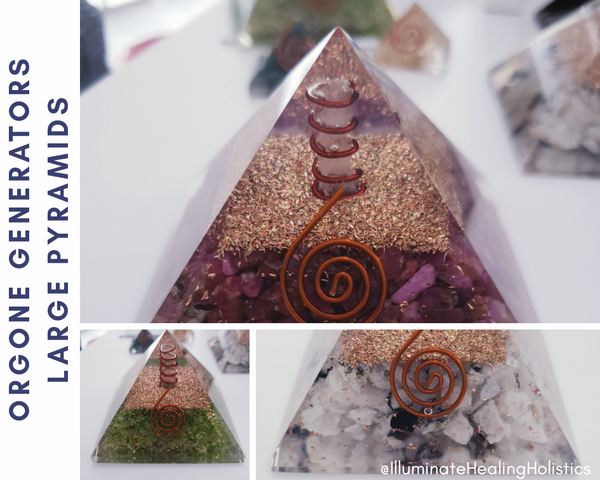 Orgone Generator Large Pyramid, Orgonite, Crystals, Crystal Healing, Copper, Gold, Metal, Okotoks, Calgary, Foothills