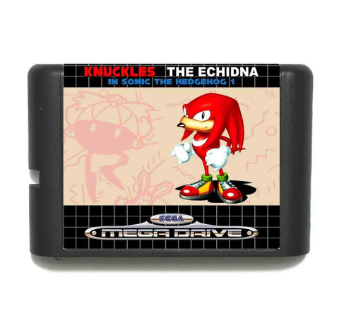 Knuckles The Echidna HACK In Sonic The Hedgehog 1   For Genesis