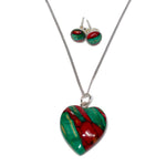 HEART STIRLING SILVER SET WITH EARRINGS