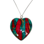 LARGE HEART STIRLING SILVER PENDANT