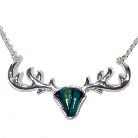 ANTLER PLATED PENDANT