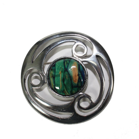 LARGE CELTIC PEWTER BROOCH