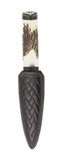 Stag Antler Sgian Dubh with Blackwood Mount