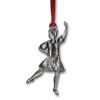 Highland Dancer Christmas Ornament