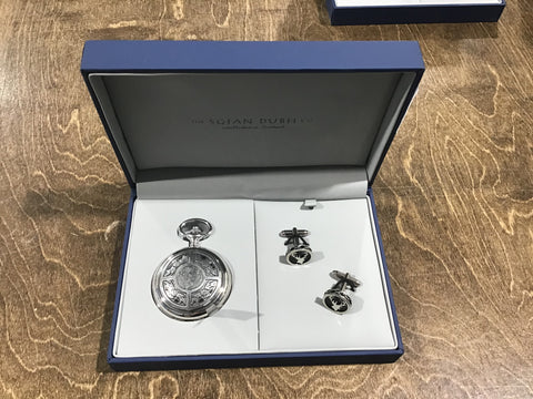 Pocket watch and cuff link gift set
