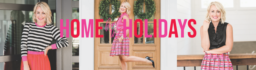 Hi Sugarplum by popular Nashville fashion blog, Hello Happiness: digital ad for the Gibson x Hi Sugarplum Holiday collection.