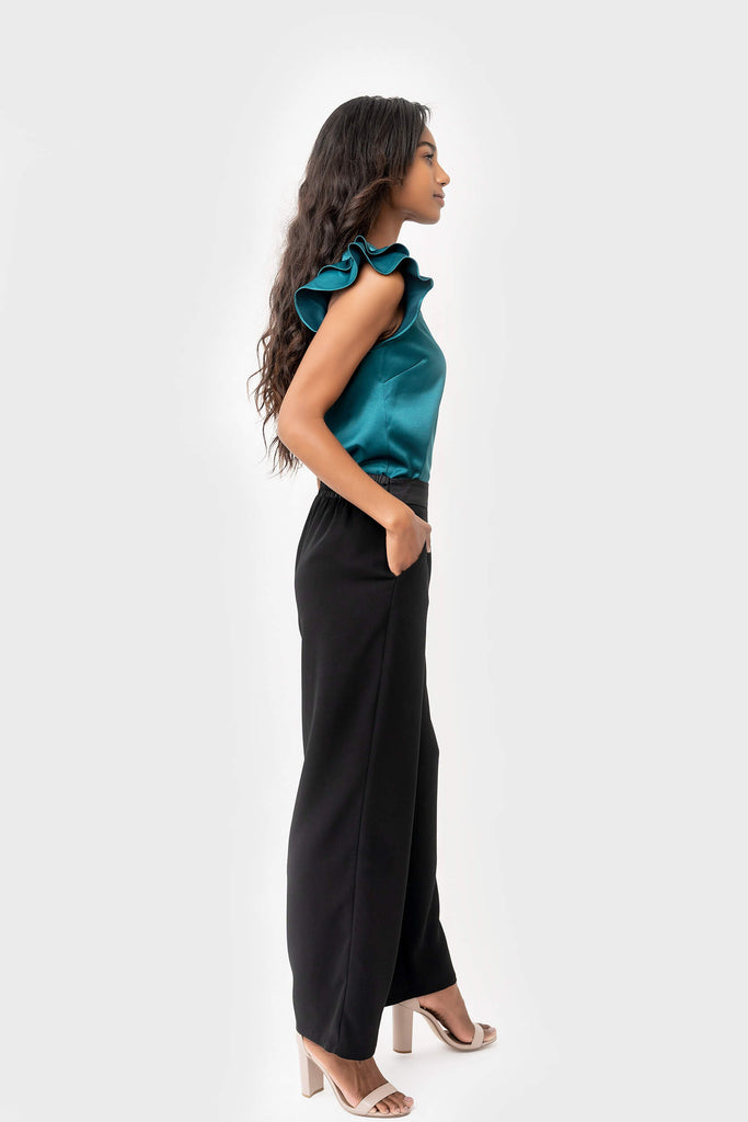 Victoria Wide Leg Pant in black