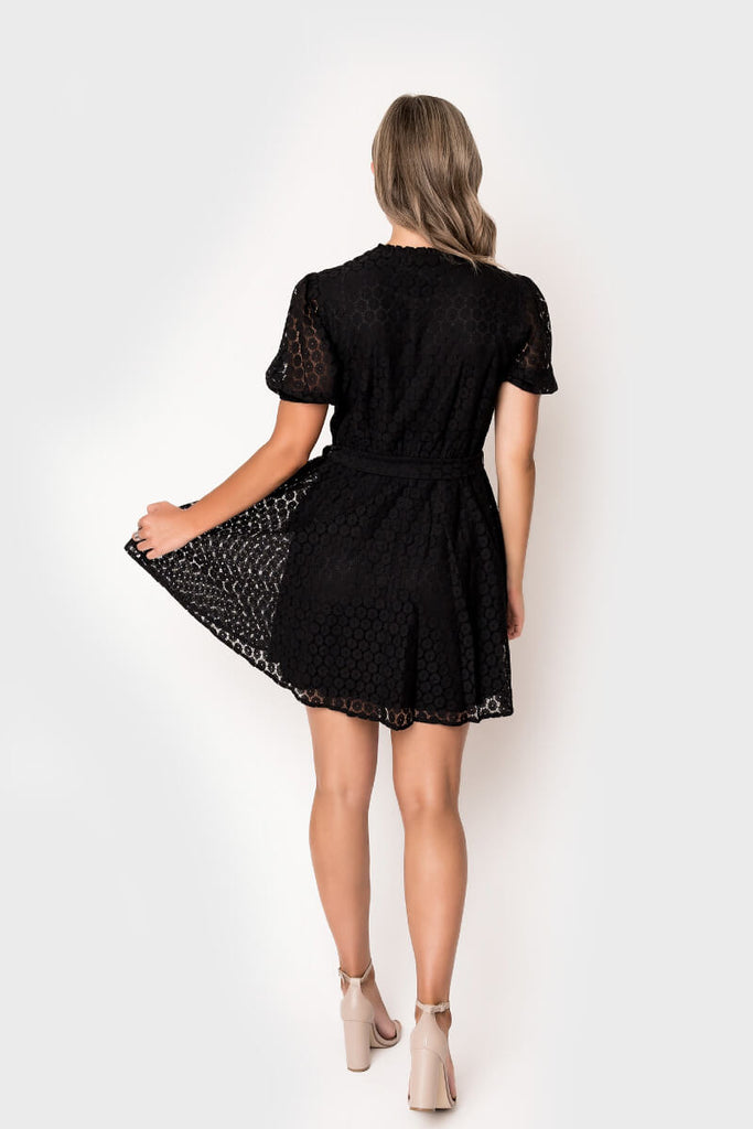 Medallion Lace Swing Dress