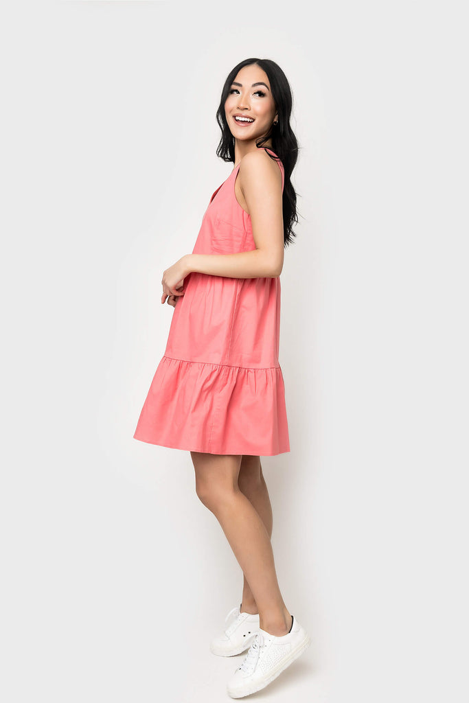 Ashley Tiered Poplin Dress