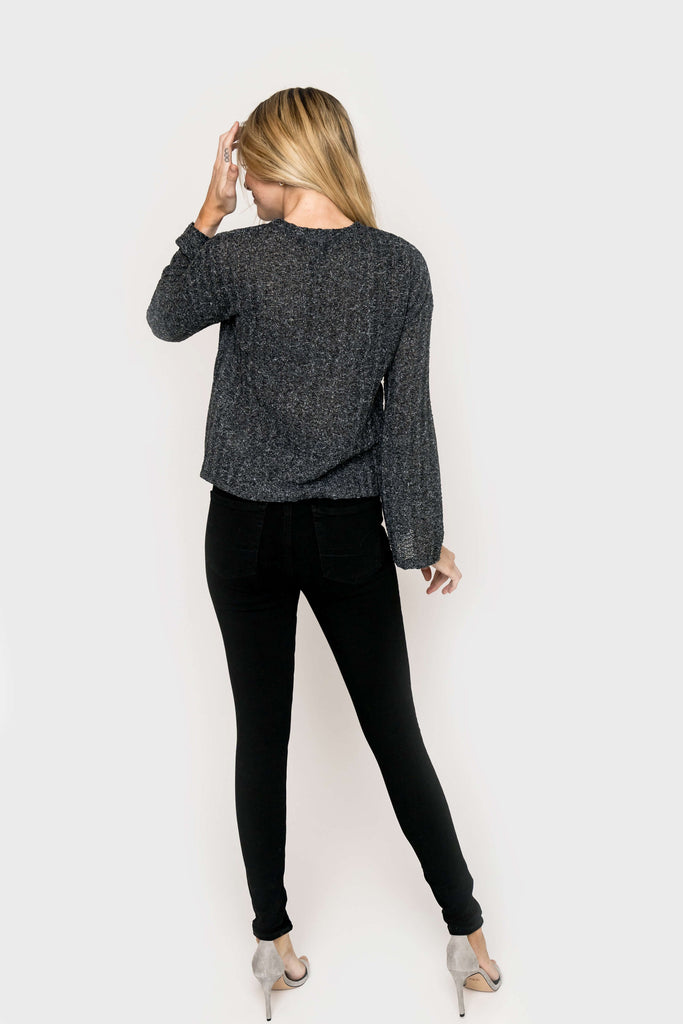Blouson Sleeve Sweater Knit Top