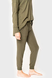 Skye Cozy Fleece Jogger olive
