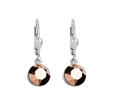Coeur De Lion Circular Drops - Rose Gold