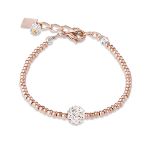 Coeur De Lion Rhinestone & Stainless Steel, Rose Gold