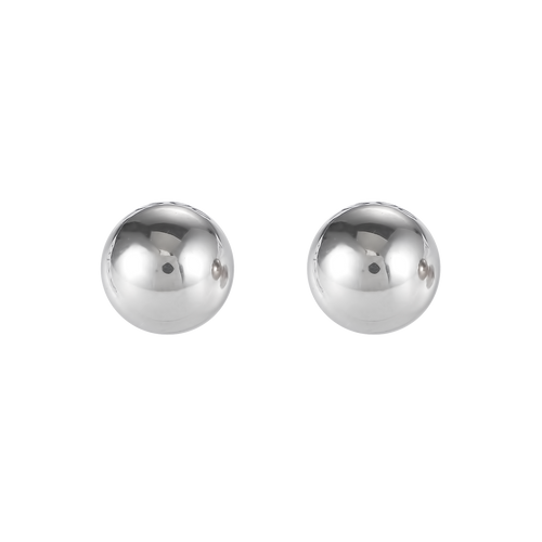 Coeur De Lion Earrings Stainless Steel Ball Small Silver