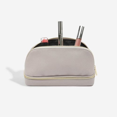 Stackers Taupe Cosmetic Make Up Bag