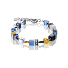 Load image into Gallery viewer, Coeur De Lion GeoCUBE Bracelet Blue-Yellow