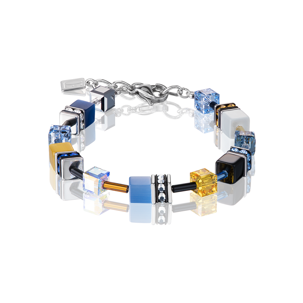 Coeur De Lion GeoCUBE Bracelet Blue-Yellow