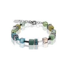 Load image into Gallery viewer, Coeur De Lion Geo Cube Bracelet Multicolour Green-Petrol