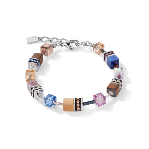 Coeur De Lion GeoCUBE® Bracelet Blue-Brown-Lilac