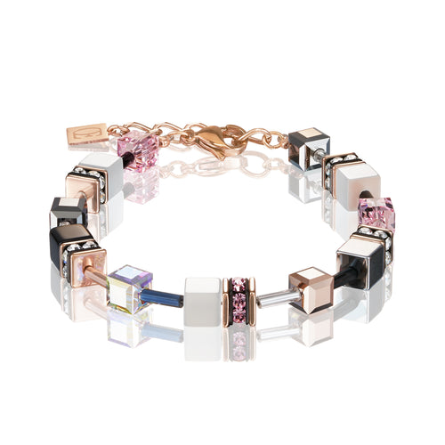Coeur De Lion GeoCUBE® Bracelet rose gold, white & light rose