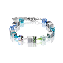 Load image into Gallery viewer, Coeur De Lion GeoCUBE Bracelet Hematite Blue-Green