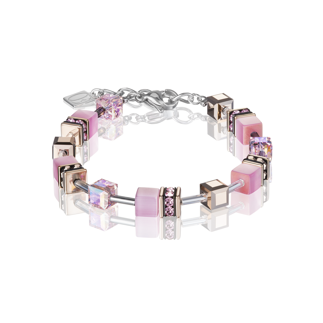 Coeur De Lion GeoCUBE Bracelet Light Rose, Rose Gold