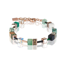 Load image into Gallery viewer, Coeur De Lion GeoCUBE Gemstones Bracelet Green - Beige