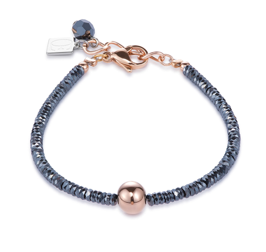 Coeur De Lion Bracelet Haematite & Stainless Steel - Rose Gold