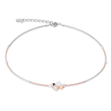 Load image into Gallery viewer, Coeur De Lion Necklace Swarovski Crystals & Stainless Steel - Beige