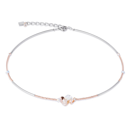 Coeur De Lion Necklace Swarovski Crystals & Stainless Steel - Beige