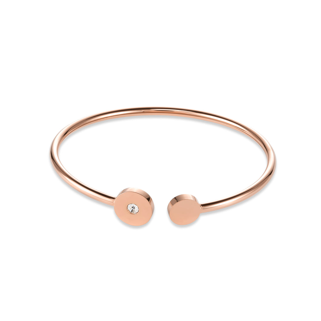 Coeur De Lion Bangle Sparkling Coins stainless steel rose gold