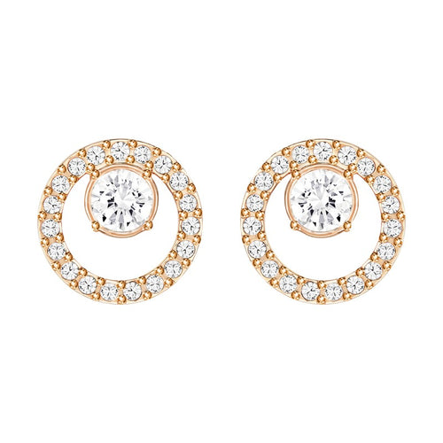 Swarovski Creativity Small Circle Earrings Rose Gold