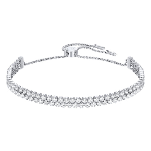 Swarovski Subtle Bracelet White, Rhodium Plated
