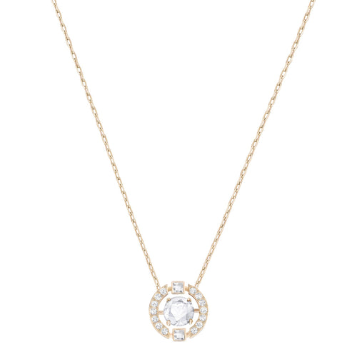 Swarovski Sparkling Dance Round Necklace Rose Gold